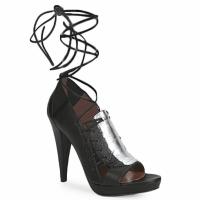 Schoenen Dames Sandalen / Open schoenen Sigerson Morrison STRUZZO Zwart / Zilver
