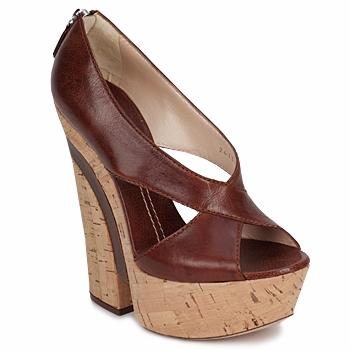 Schoenen Dames Sandalen / Open schoenen Casadei ELEANORE KASTANJE