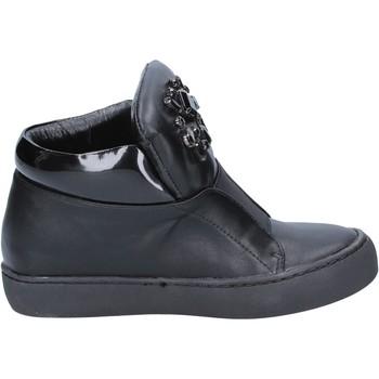 Schoenen Dames Enkellaarzen Sara Lopez sneakers nero pelle BX704 Nero