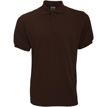 Textiel Heren Polo's korte mouwen B And C PU409 Bruin