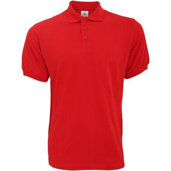 Textiel Heren Polo's korte mouwen B And C Safran Rood