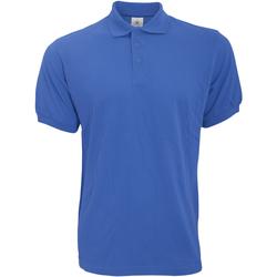 Textiel Heren Polo's korte mouwen B And C Safran Royal Blauw