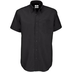 Textiel Heren Overhemden korte mouwen B And C Oxford Zwart
