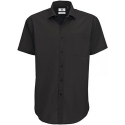 Textiel Heren Overhemden korte mouwen B And C SMP62 Zwart