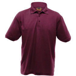 Textiel Heren Polo's korte mouwen Ultimate Clothing Collection UCC004 Bourgondië