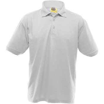 Textiel Heren Polo's korte mouwen Ultimate Clothing Collection Pique Wit