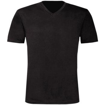 Textiel Heren T-shirts korte mouwen B And C Exact Zwart