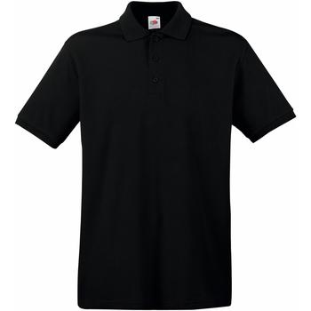 Textiel Heren Polo's korte mouwen Fruit Of The Loom Premium Black