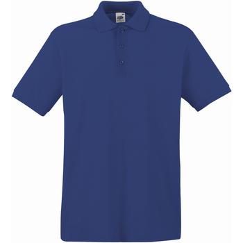 Textiel Heren Polo's korte mouwen Fruit Of The Loom Premium Marine