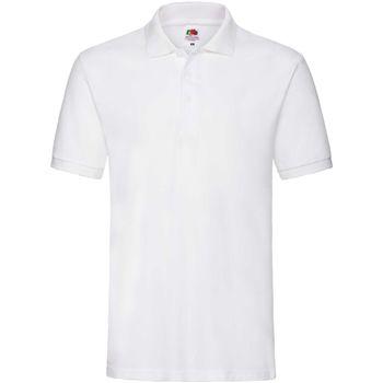 Textiel Heren Polo's korte mouwen Fruit Of The Loom Premium Wit