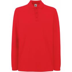 Textiel Heren Polo's lange mouwen Fruit Of The Loom Premium Rood