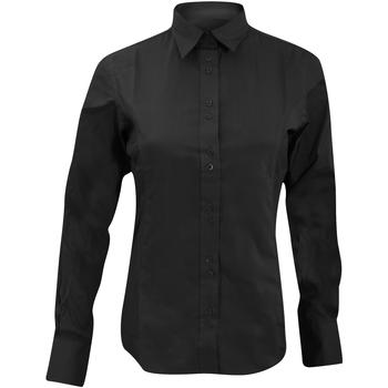 Textiel Dames Overhemden Kustom Kit KK388 Zwart