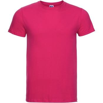 Textiel Heren T-shirts korte mouwen Russell R155M Fuchsia