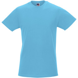 Textiel Heren T-shirts korte mouwen Russell R155M Turquoise