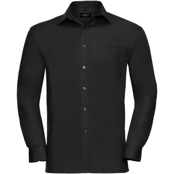 Textiel Heren Overhemden lange mouwen Russell Work Zwart