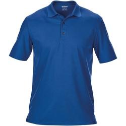 Textiel Heren Polo's korte mouwen Gildan Pique Royaal Blauw