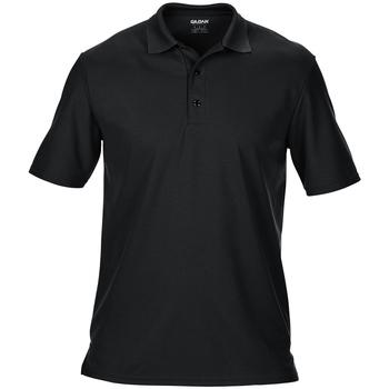 Textiel Heren Polo's korte mouwen Gildan Pique Zwart
