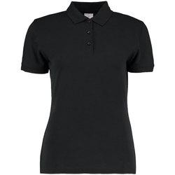 Textiel Dames Polo's korte mouwen Kustom Kit KK213 Zwart