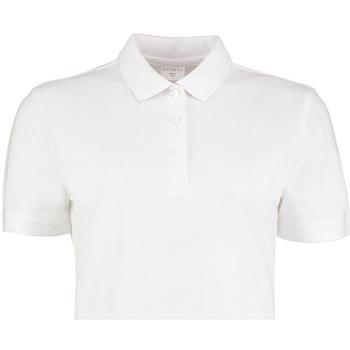 Textiel Dames Polo's korte mouwen Kustom Kit Slim Fit Wit