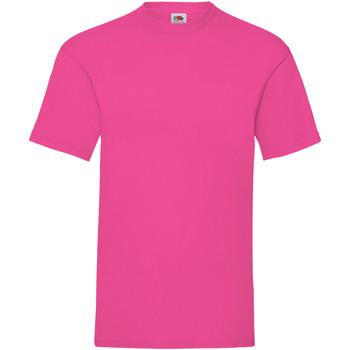 Textiel Heren T-shirts korte mouwen Fruit Of The Loom Valueweight Fuchsia