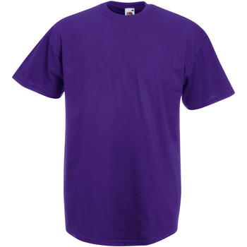 Textiel Heren T-shirts korte mouwen Fruit Of The Loom Valueweight Paars