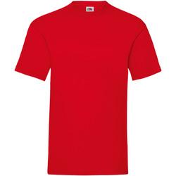 Textiel Heren T-shirts korte mouwen Fruit Of The Loom Valueweight Rood