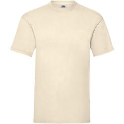 Textiel Heren T-shirts korte mouwen Fruit Of The Loom 61036 Natural