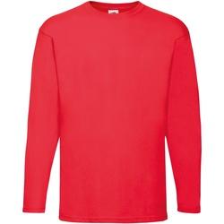 Textiel Heren T-shirts met lange mouwen Fruit Of The Loom Valueweight Rood