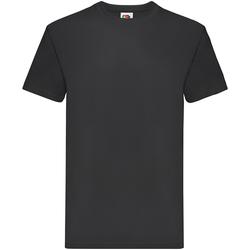 Textiel Jongens T-shirts korte mouwen Fruit Of The Loom Premium Zwart