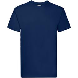 Textiel Jongens T-shirts korte mouwen Fruit Of The Loom Premium Marine