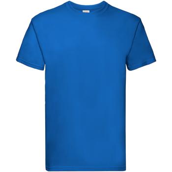 Textiel Jongens T-shirts korte mouwen Fruit Of The Loom Premium Royaal Blauw