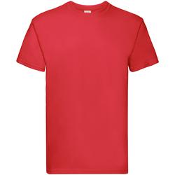 Textiel Jongens T-shirts korte mouwen Fruit Of The Loom Premium Rood