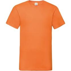 Textiel Heren T-shirts korte mouwen Fruit Of The Loom Valueweight Oranje