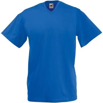 Textiel Heren T-shirts korte mouwen Fruit Of The Loom Valueweight Royaal