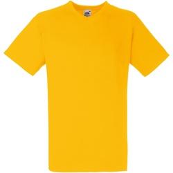 Textiel Heren T-shirts korte mouwen Fruit Of The Loom 61066 Zonnebloem
