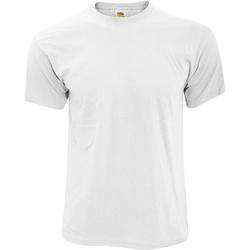 Textiel Heren T-shirts korte mouwen Fruit Of The Loom Original Wit