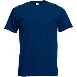 Textiel Heren T-shirts korte mouwen Fruit Of The Loom Original Marine