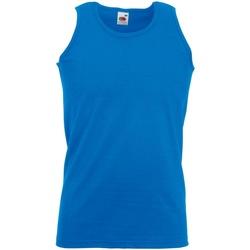 Textiel Heren Mouwloze tops Fruit Of The Loom Athletic Royaal Blauw