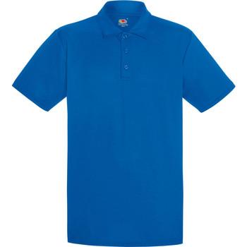 Textiel Heren Polo's korte mouwen Fruit Of The Loom Performance Royaal Blauw