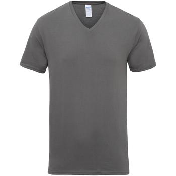 Textiel Heren T-shirts korte mouwen Gildan Premium Houtskool