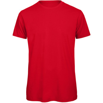 Textiel Heren T-shirts korte mouwen B And C Organic Rood
