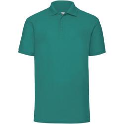 Textiel Heren Polo's korte mouwen Fruit Of The Loom Pique Emerald