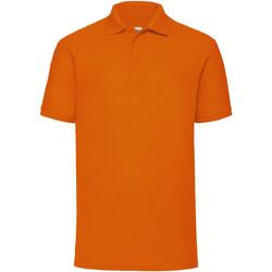 Textiel Heren Polo's korte mouwen Fruit Of The Loom Pique Oranje