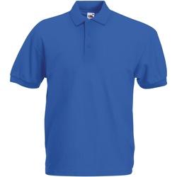 Textiel Heren Polo's korte mouwen Fruit Of The Loom Pique Royaal Blauw