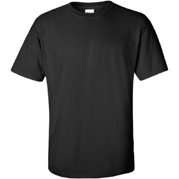 Textiel Heren T-shirts korte mouwen Gildan Ultra Zwart