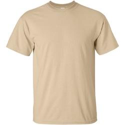 Textiel Heren T-shirts korte mouwen Gildan Ultra Tan