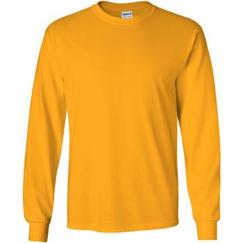 Textiel Heren T-shirts met lange mouwen Gildan Ultra Goud