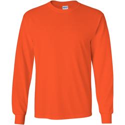 Textiel Heren T-shirts met lange mouwen Gildan Ultra Oranje