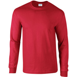Textiel Heren T-shirts met lange mouwen Gildan 2400 Rood