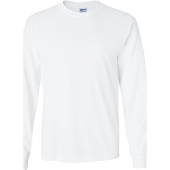 Textiel Heren T-shirts met lange mouwen Gildan 2400 Wit